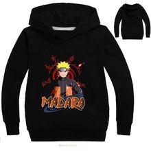 Детский спортивный свитер «Наруто»; сезон весна-осень; модный топ с капюшоном и длинными рукавами; Детский свитер с героями мультфильмов; футболка; Одежда для мальчиков