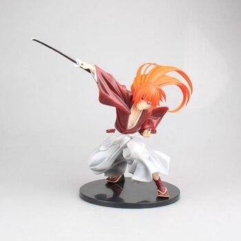 Anime Rurouni Kenshin Meiji Swordsman Romantic Story Kenshin Himura Figure