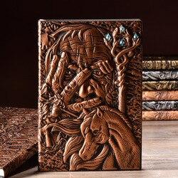 Волшебная креативная книга с твердой обложкой для дневника А5 винтажная кожаная модная записная книжка с подкладкой из бумаги 100 листов Бес...