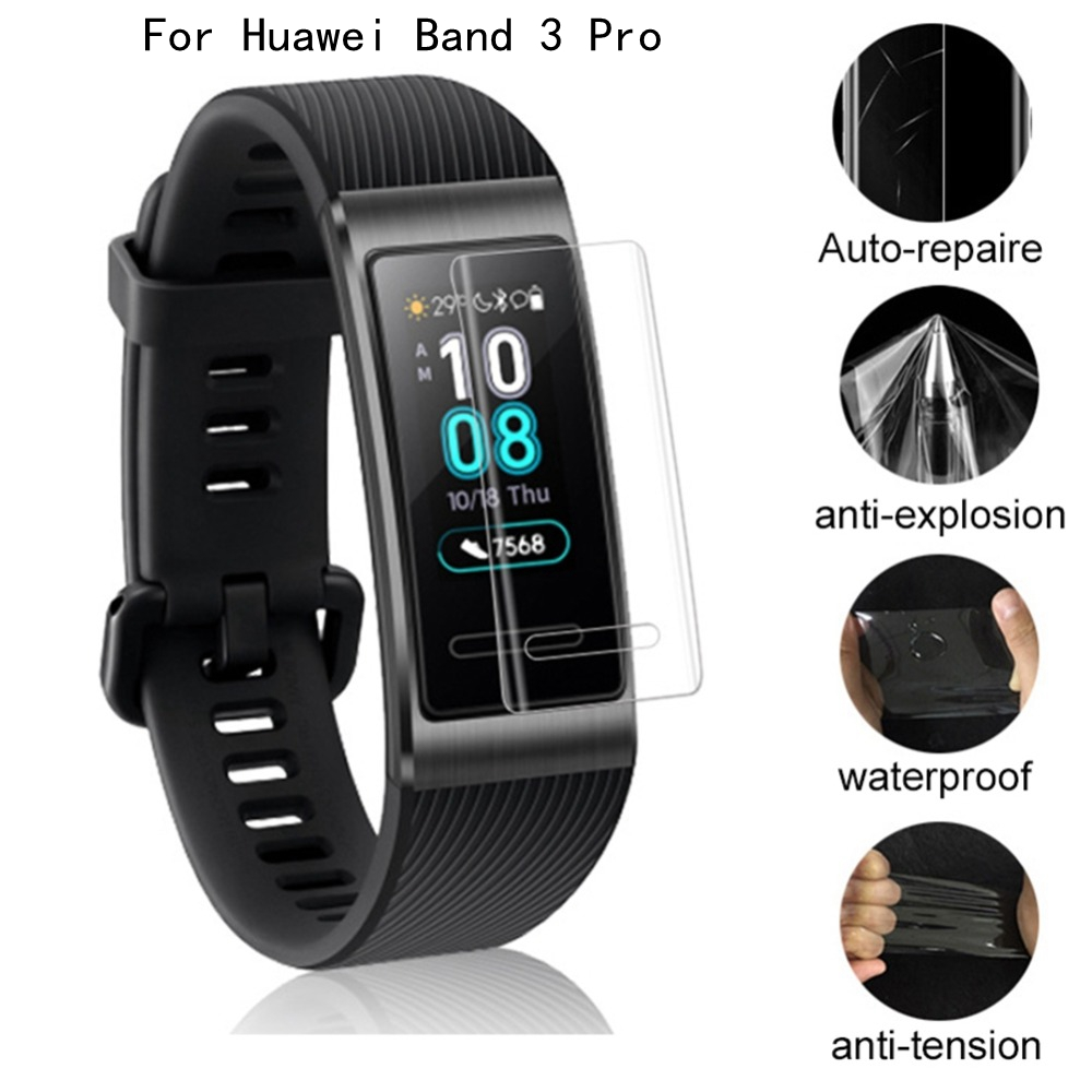 Hydrogel Film For Huawei Band 3 Pro Fitness Bracelet 2.5D Ultra-thin Full Screen Protector Anti-fingerprint Smart Accessories