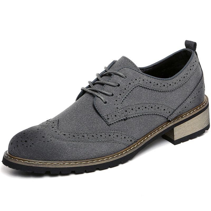 Split Suede Leather Oxford Shoes