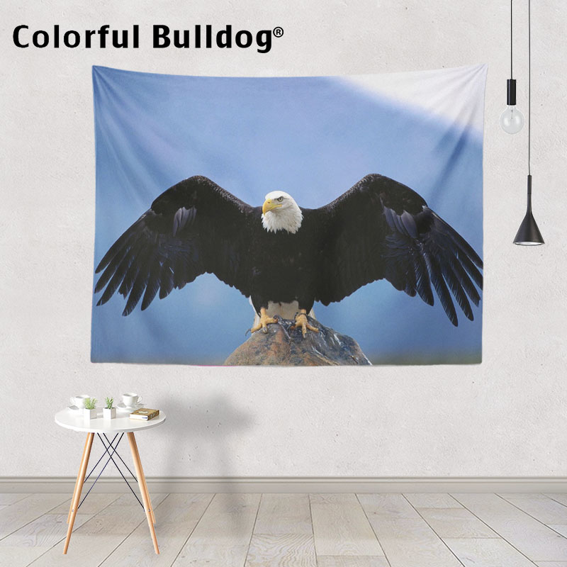 Green Forest Hanging Tapestry Colorful Parrot Eagle Wall Art Large Blankets Home Bedroom Decorative 150*200 cm Custom Bedspreads