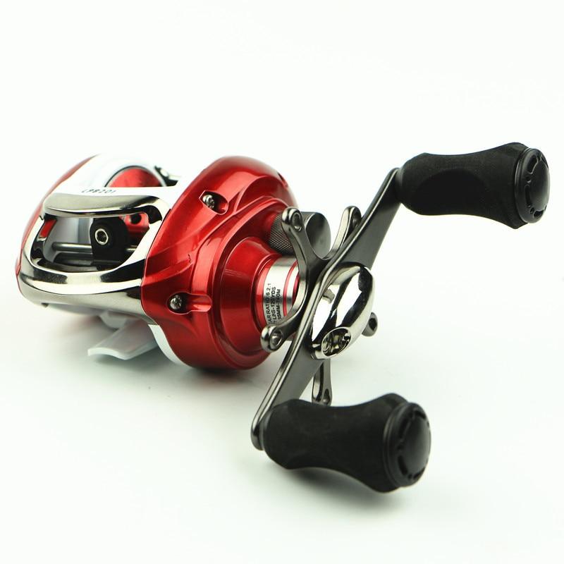 Bait casting wheel metal rocker arm fishing reel right for Fish drops reels