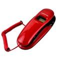 Moda Telefónica Identificador de llamadas de Teléfono Fijo de Pared Gancho Pequeño Hotel Teléfonos Móviles Para Bussiness Casa Roja