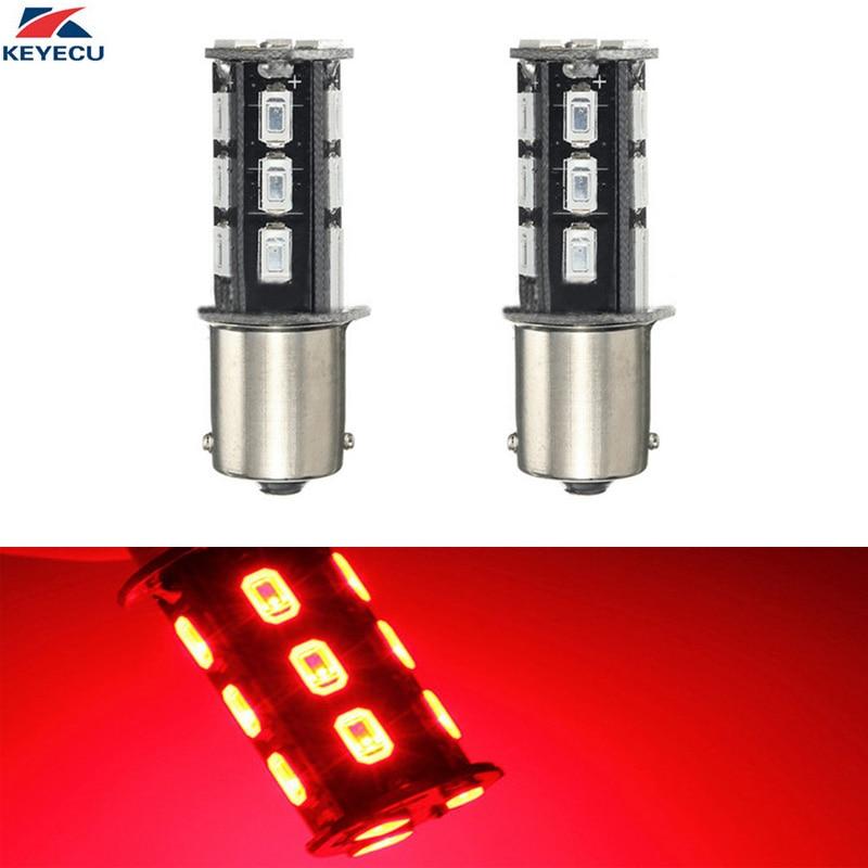 KEYECU 2PCS Red 6000K 10W High Power 1156 11575630 18SMD Super Bright Automotive Led Bulb Back Up Reverse Brake Tail Lights
