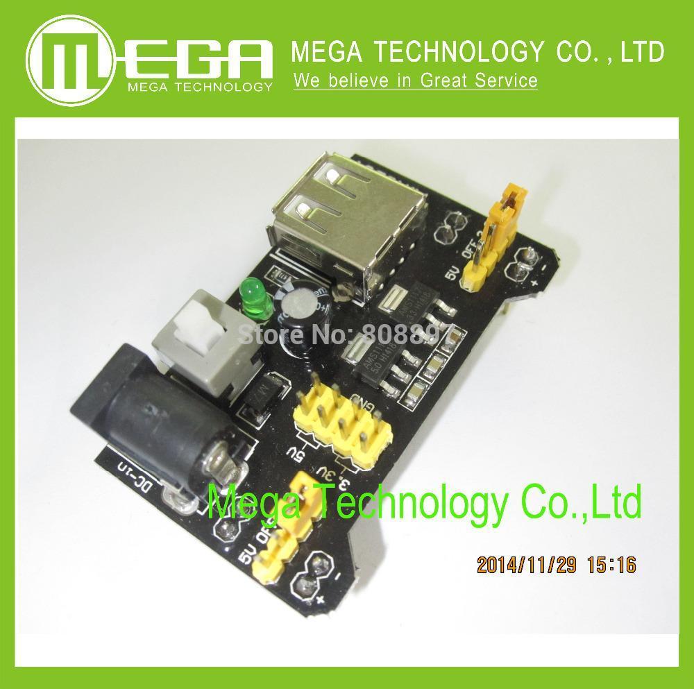 5pcs Breadboard Power Supply Module 3.3V 5V MB102 Solderless Bread Board DIY 201