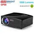 VIVIBRIGHT GP80 проекты светодиодный 1800 люмен HD мини портативный проектор для домашнего кинотеатра Поддержка 1080P USB HDMI