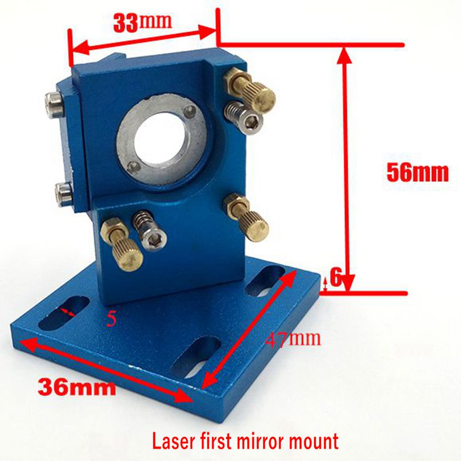 Free Shipping Co2 Laser First Reflection Mirror 20mm Mount Support Integrative Holder For Laser Engraving Cutting Machine