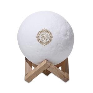 Image 5 - Quran LED Night Light Wireless quran Bluetooth Speakers Colorful Moon Muslim Speaker Koran With Remote Control