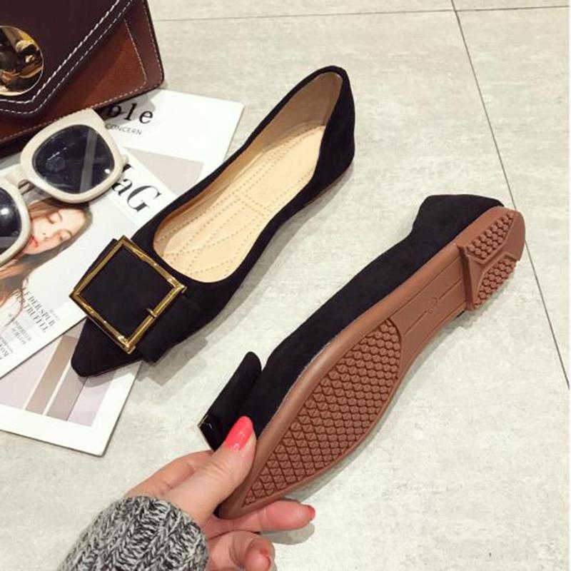 Printemps Appartements Chaussures A632 Femmes Élégantes Pointe pourpre Noir 2019 Mode Dames 1SOtpnqww
