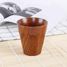 Японский стиль портативная деревянная маленькая ручная работа из натурального цельного дерева чайная чашка деревянная кофейная кружка для питьевой воды H0326