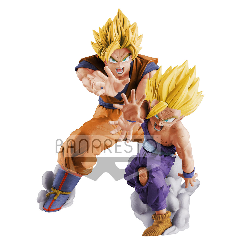Original BANPRESTO Dragon ball Z DBZ VS Existence Goku&Gohan PVC Action Figure Juguetes Brinquedos Toys Figurals 18cm dragon ball z action figure goku and gohan deification rama ver dragonball pvc toys 18cm free shipping