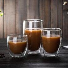 Холодный теплоизоляция Bodum Pavina дизайн двухэтажный кофе сок мороженое Десерт блеск Пинта стеклянная чашка Яйцо Тип Swig Gafas