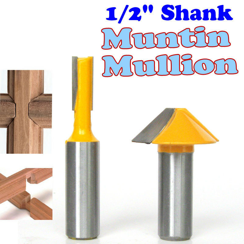 2 pc 1/2 SH Window grill Muntin/Mullion Cutter Router Bit Set woodworking cutter Tenon Cutter for Woodworking Tools 2 pc 1 2 sh 1 2 3 8 rabbeting