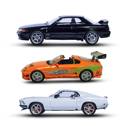 1:43 Mini Fast and Furious Toy Cars Hot Wheels 3 Type for Children Collectable Toys Kid Toyota Diecast Metal Model Mcqueen Car