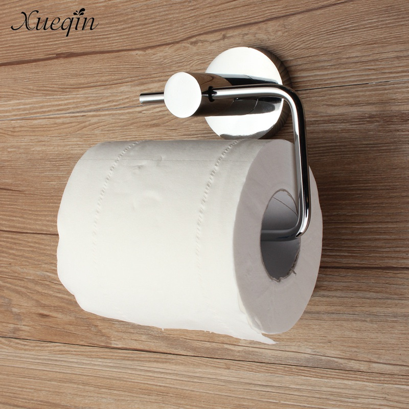 Chrome Polished Stainless Steel Bathroom Toilet Roll Paper Holder Hook Wall Mounted Tissue Towel Rack