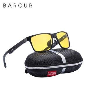 Image 2 - BARCUR Fahrer Anti Glare Fahren Gläser Aluminium Nachtsicht Sonnenbrille Männer Nacht Sonnenbrille Platz Goggle Brillen