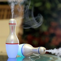 150ML Colorful Bowling Humidifier Vehicle Car Aromatherapy Usb Air Humidifier Ultrasonic Aroma Essential Oil Diffuser