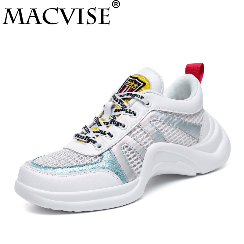 2018 Summer Women Sneakers Breathable Light Casual Shoes Fashion Comfortable Women Sneakers Mesh Flats Student Shoes