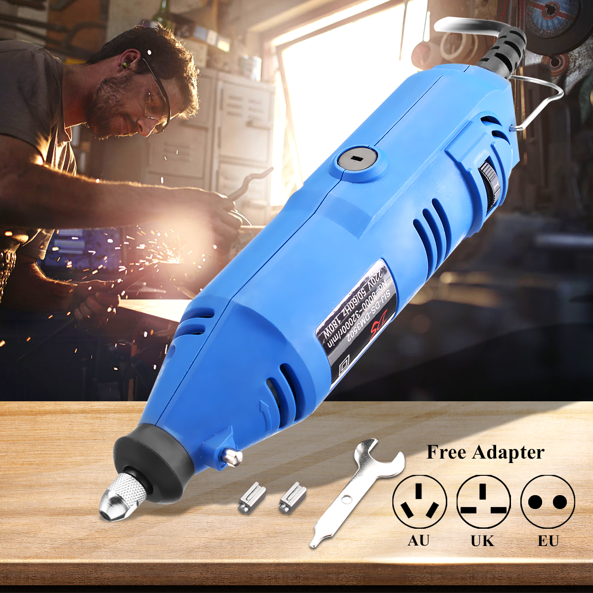 220V Mini Electric Grinder Variable Speed Rotary Tools Handle Electric Drill Engraving Pen Grinder 180W Grinding Machine trochilus400w drills grinding rotary machine mini grinder electric engravers adjustable angle grinder tools sets moledores80505