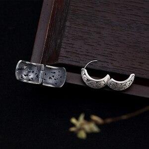 Image 5 - BALMORA אמיתי 990 טהור כסף חלול עננים אתני עגילים לנשים אמא מתנת בציר אלגנטי תכשיטים Brincos
