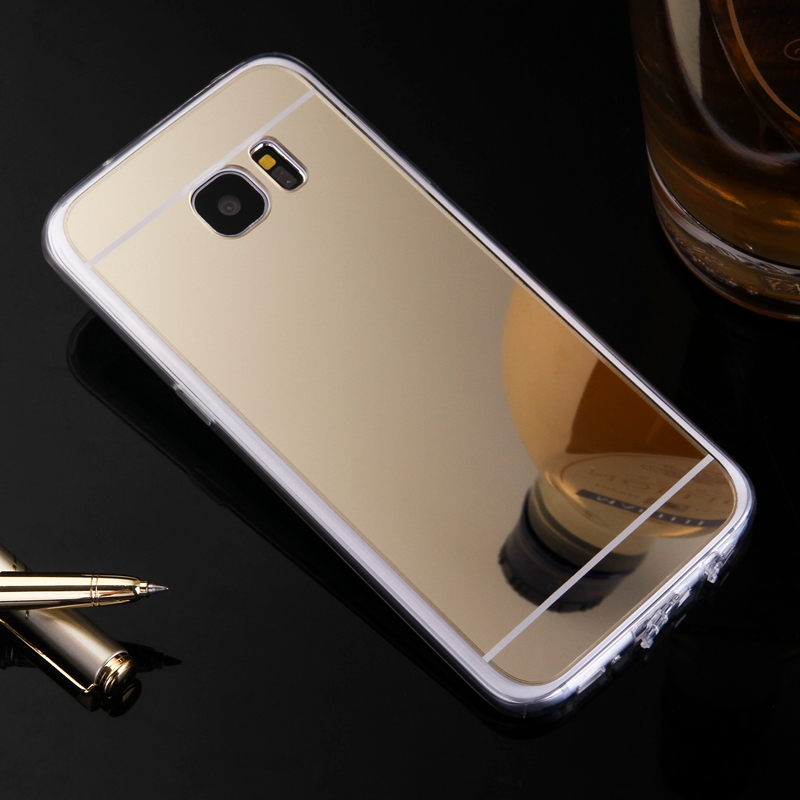 Luxury for Samsung Galaxy A3 A5 A7 J1 J5 J7 2016 Case Mirror TPU Back Phone Cover for Galaxy S7 S6 Edge A8 J2 J3 S3 S4 S5