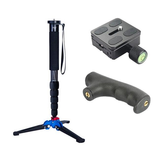 Manbily C 555 Carbon Fiber Camera Monopod With M13 Legs Stand Base 3 8 screw Professional