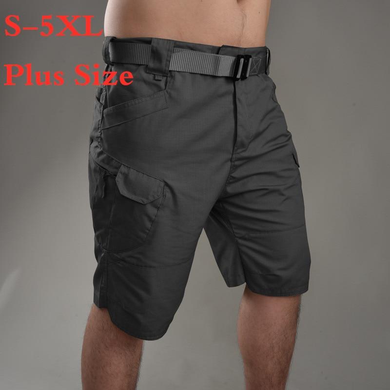 5XL Big Size Army Fan Tactical Shorts Multi Pocket Cargo Shorts Summer Outdoor Sport Training Hiking Short Trouser Military Man
