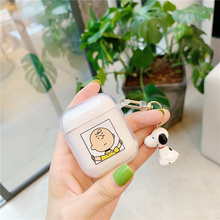 Charlie Brown wireless bluetooth earphone cover for apple airpods soft case thick headphone headset charging box keychain ring 2 usams lh series bluetooth headphone brown silver