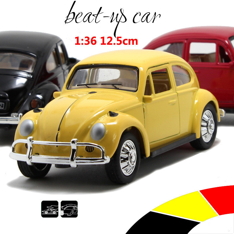 Big Toy Cars >> Beatles Classic Car 1:36 scale alloy pull back model car, Retro Diecast cars toy,Children's gift ...