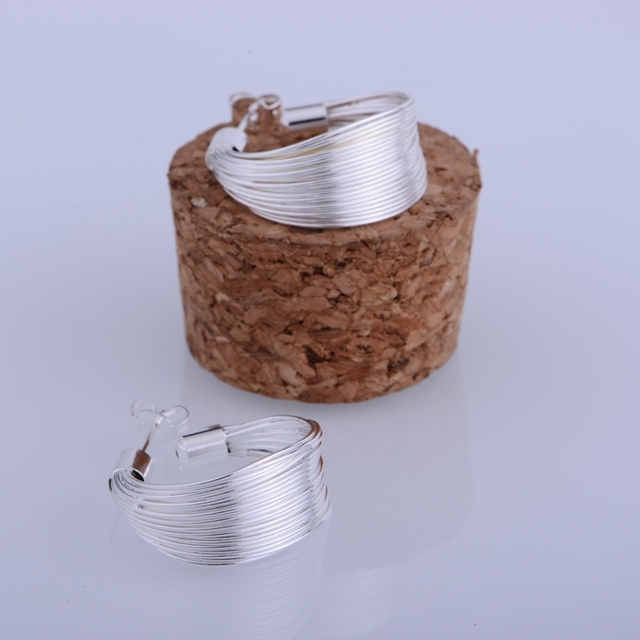 925 sterling silver earrings , 925 silver fashion jewelry , macrame shiny artistic /ihwaqzda hvjaqmqa LQ-E005
