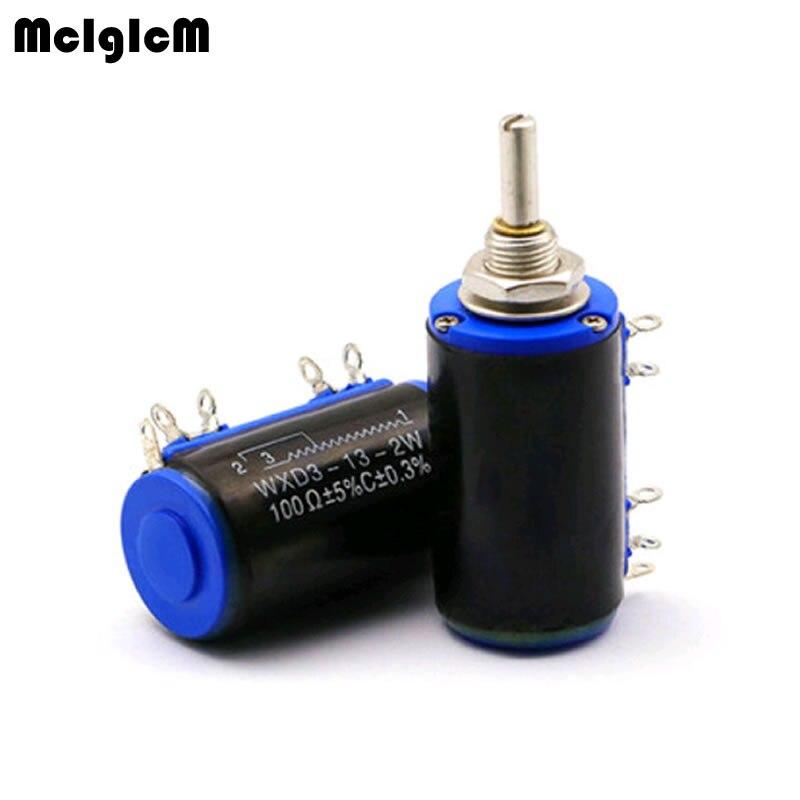 MCIGICM 40pcs WXD3 13 2W 100 200 220 470 680 Ohm 1K 2 2K 3 3K