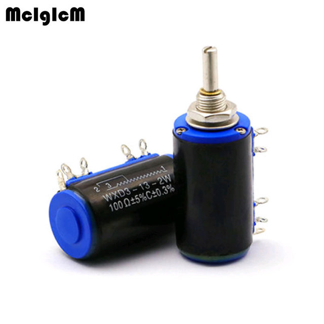 MCIGICM 40 sztuk WXD3 13 2W 100 200 220 470 680 Ohm 1K 2.2K 3.3K 4.7K 5.6K 6.8K 10K 22K 33K 47K 100K Ohm potencjometr drutowy