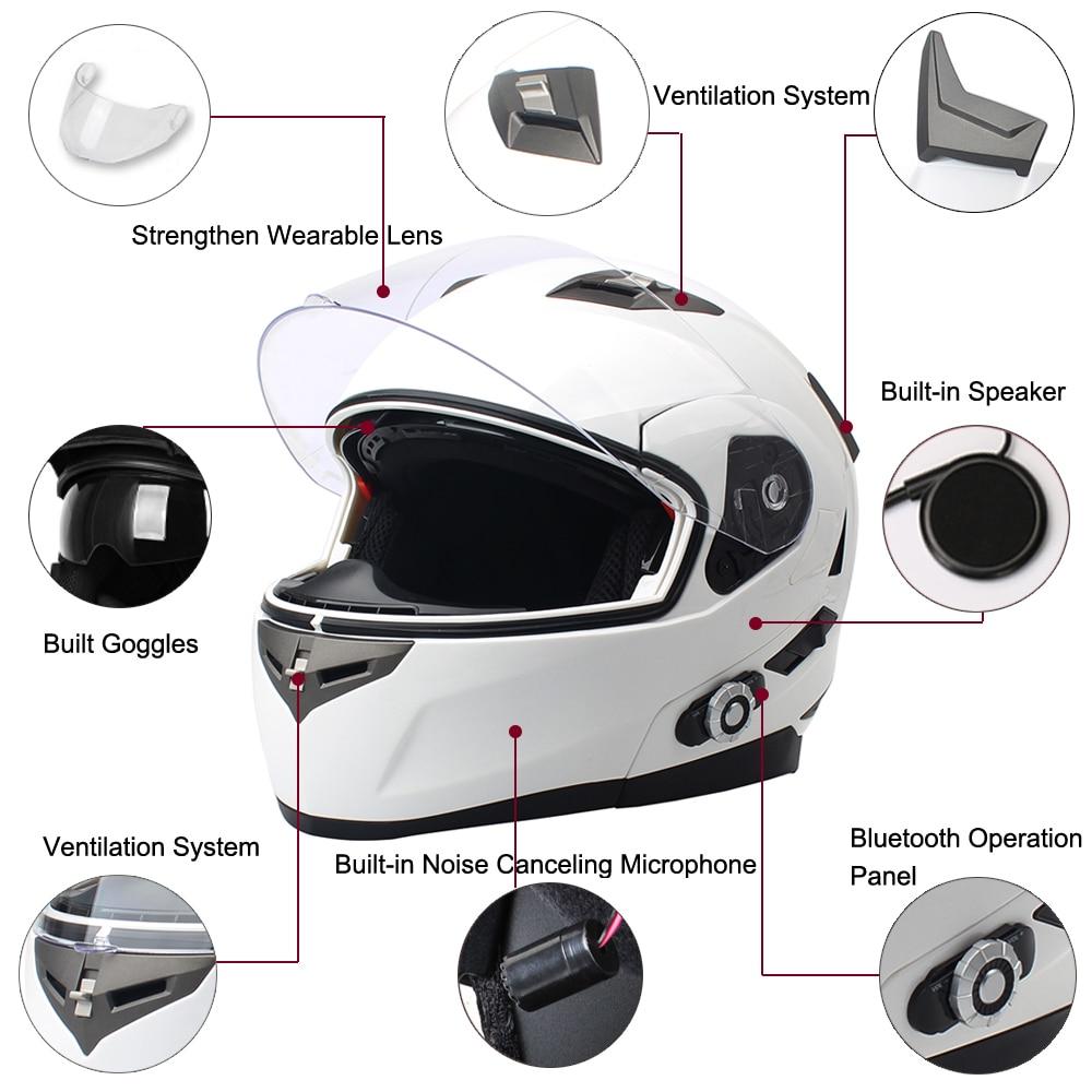2017 FreedConn Smart Bluetooth мотоциклдік дулыға - Мотоцикл аксессуарлары мен бөлшектер - фото 3