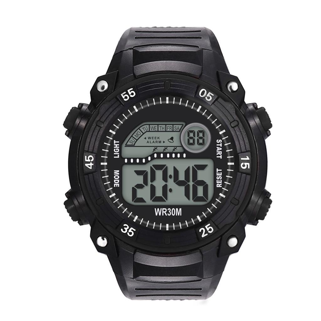 Watch Men Electronic-Watch Multi-Function Sports Waterproof Saati Reloj High-End Fashion