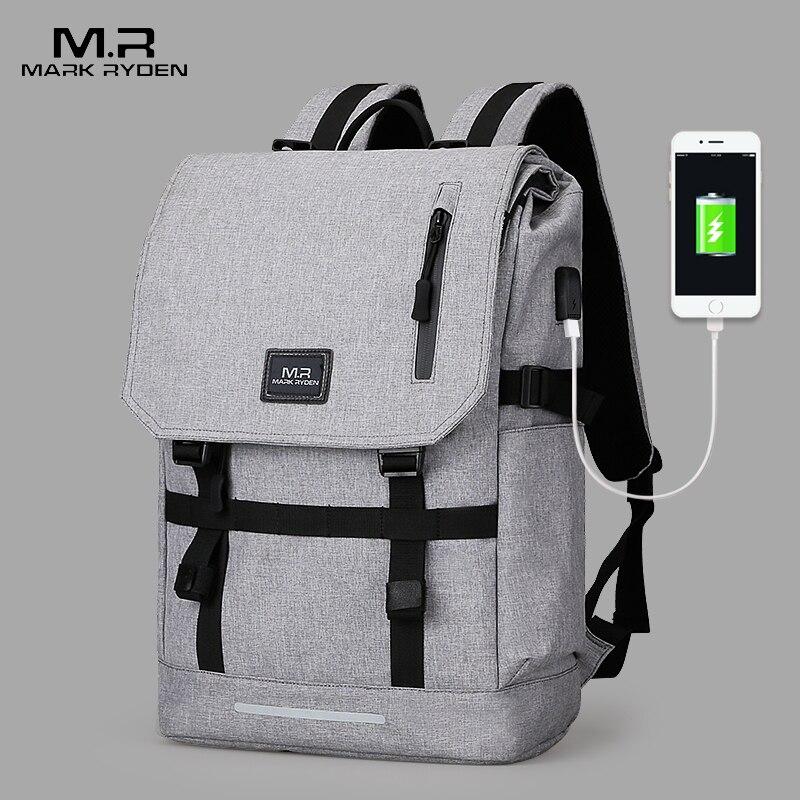 Mark Ryden Große Kapazität 15,6 zoll Laptop Tasche Mann USB Design Rucksack Tasche Schwarz Rucksack frauen Schule Taschen Mochila Masculina
