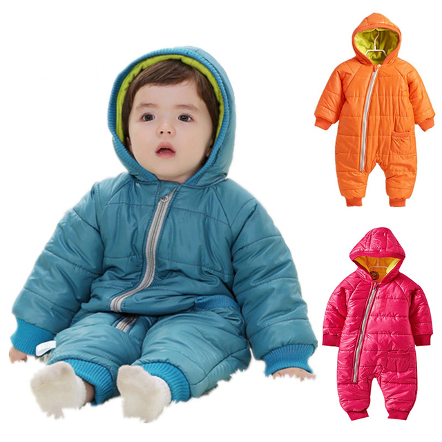 175cc35c387d Snowsuit Baby Snow wear Cotton Padded One Piece Warm Outerwear ...