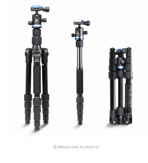 Benro Universal Tripod FIF19AIB0 Aluminum kit IB0 Ball Head for DSLR Camera-in Tripods from Consumer Electronics    1
