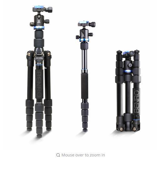 Benro evrensel Tripod FIF19AIB0 alüminyum kiti IB0 DSLR kamera için topu kafa