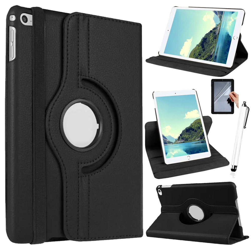 Eagwell 360 Degree Rotating Case For iPad 2 3 4 PU Leather Litchi Pattern Tablet Smart Cover Flip Case Stand for iPad 4/3/2 flip left and right stand pu leather case cover for blu vivo air