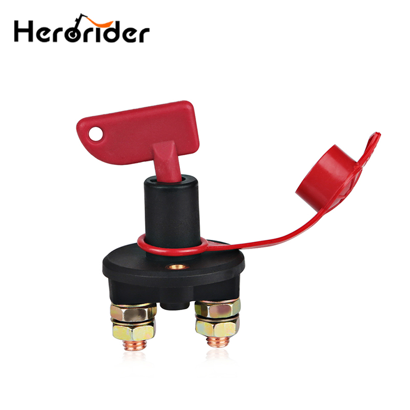 Marine RV Truck Boat Car Battery Switch Cut Off Power Battery Isolator Disconnect Switch With Removable Key Waterproof Cover
