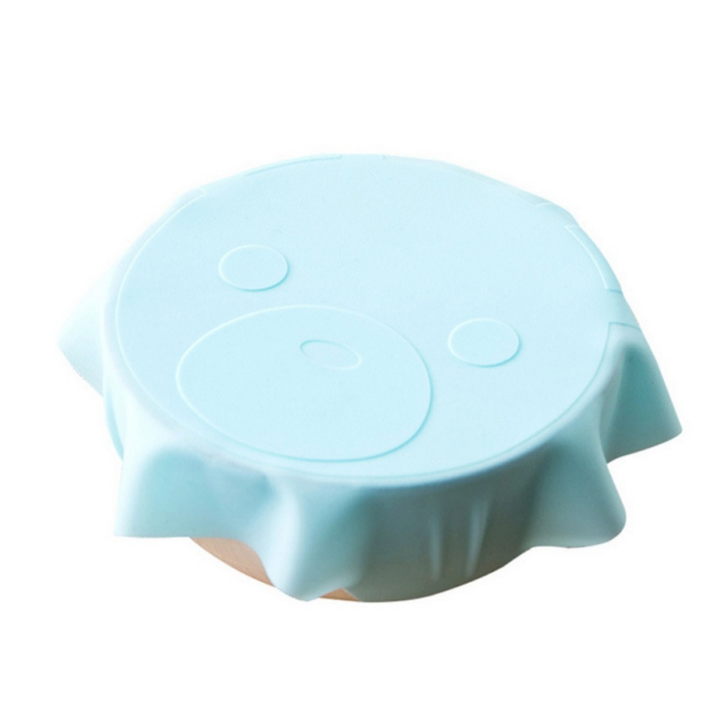 Image 3 - Cartoon Pattern Stretch Silicone Lid Reusable Fresh keeping Food Storage Covers Fit Various Sizes And Shapes Of Containers-in Fresh-keeping Lids from Home & Garden