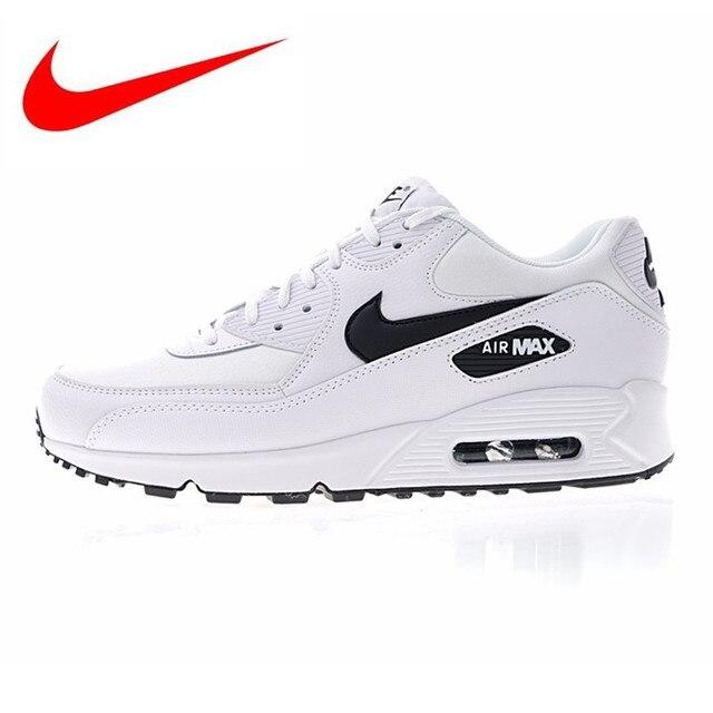 NIKE AIR MAX 90 esencial de los hombres y de las mujeres zapatos corrientes al aire libre, blanco, transpirable amortiguador ligero 325213 131