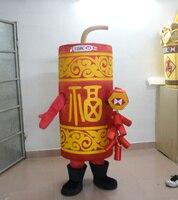 Высокое качество холодный красный Фейерверк Banger крекер петарда Маскоты костюм с жира цилиндра Средства ухода за кожей желтое платье