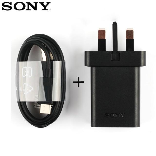 Chargeur rapide de voyage adaptatif dorigine pour Sony Xperia L1 G3312 XA1 Plus XA1 Ultra G3116 XA2 câble Ultra X Compact XZs XZ2 type-c