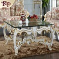factory direct sale classic wooden furniture - Handwork Gilding golden foil royalty  table   Free shipping