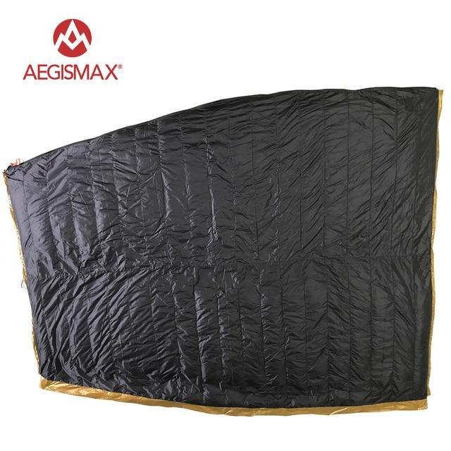 AEGISMAX Envelope 95% White Goose Down Sleeping Bag FP800 M L 2
