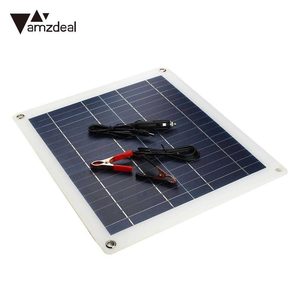 Solar Generator Travel DC Port+Cigarette Lighter Durable Solar Panel Battery Car Charger 25W 18V Outdoor Emergency Power Supply outdoor solar panel 20w 18v portable solar cell emergency power supply solar generator usb dc port solar panels power charger