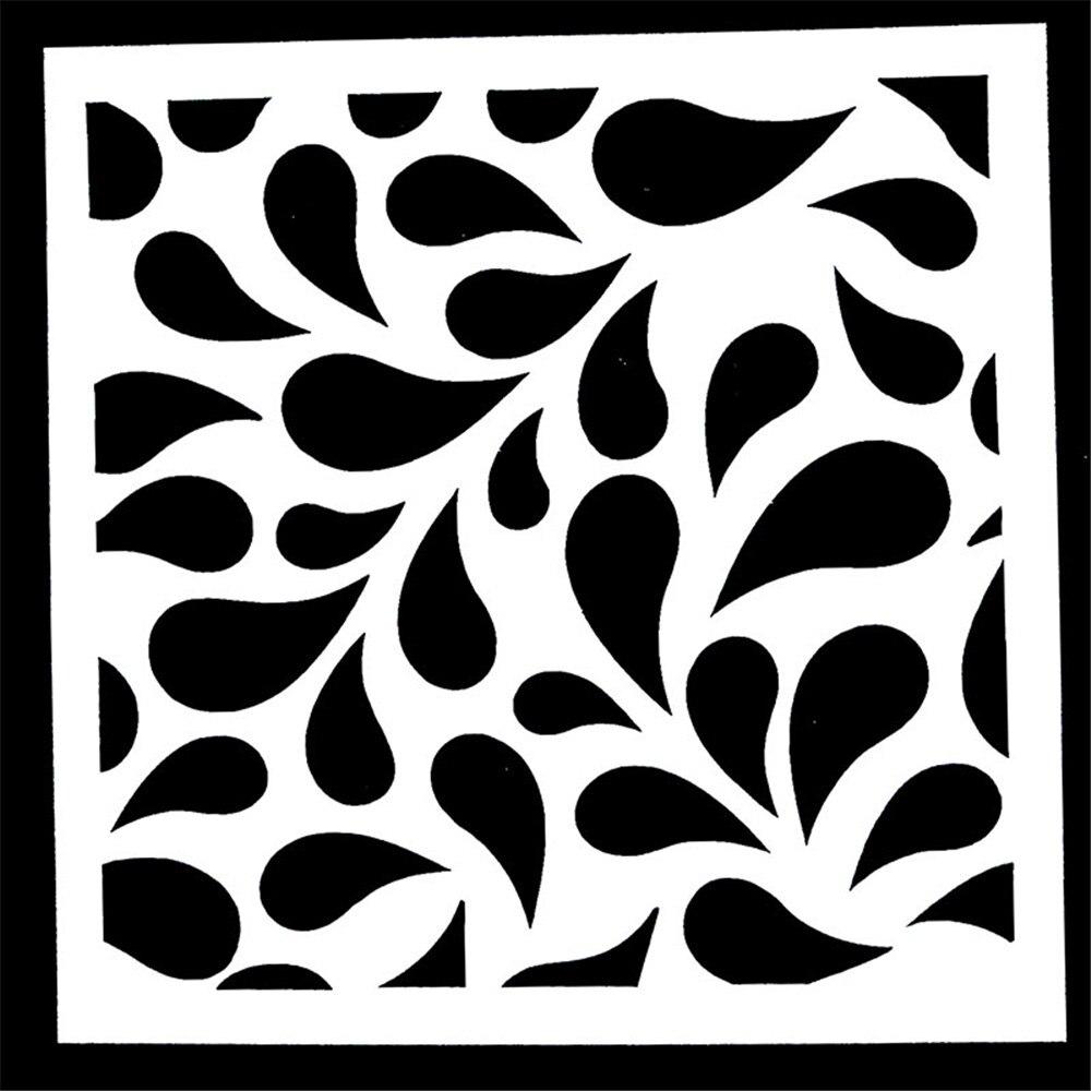1PC Leaves Shape Reusable Stencil Airbrush Painting Art DIY Home Decor Scrapbooking Album Craft