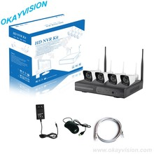 4CH P2P WIFI NVR KIT 4PCS Wireless FULL HD Wifi IP Camera Weatherproof With 4CH 1080P WIFI NVR CCTV System Kit